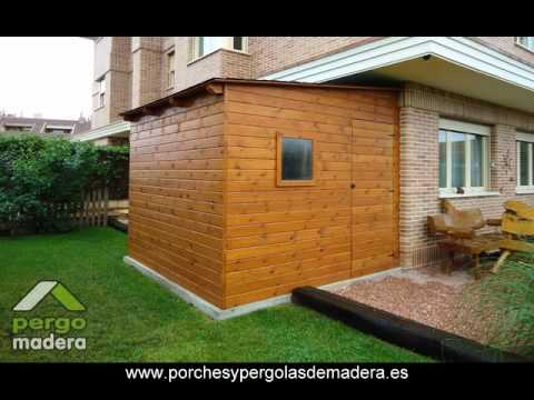 Casetas de madera pergomadera youtube for Bricor casetas jardin