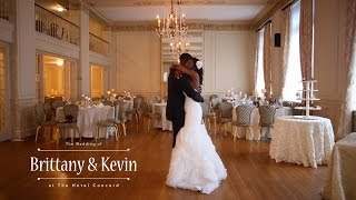 Brittany & Kevin's wedding at The Hotel Concord