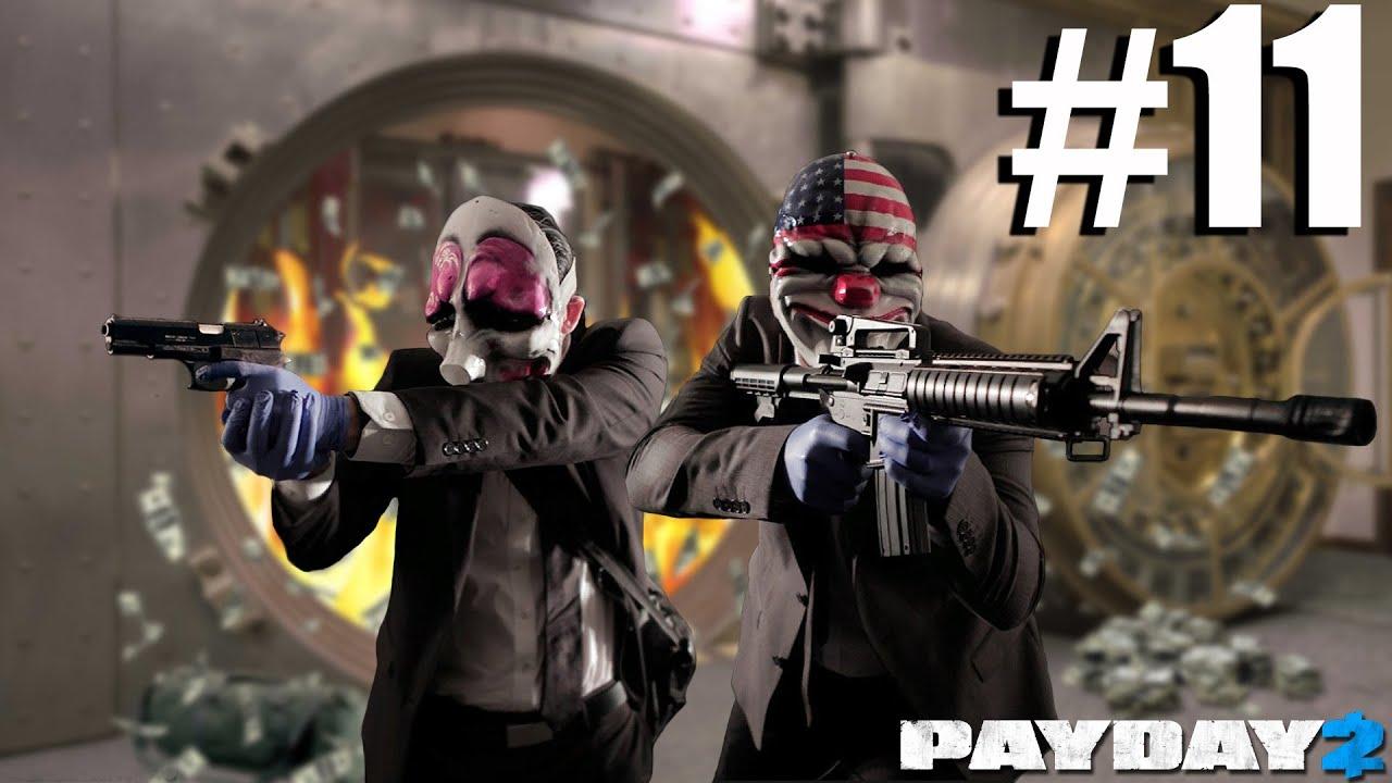 Payday 2 Walkthrough Part 11 -Contract - Bank Heist - Gold (Job 11)