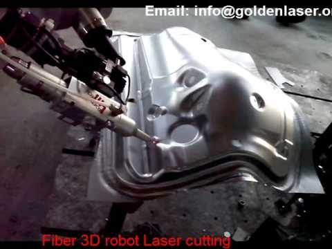 Golden Laser XJG-2400 Fiber 3D Robot Arm Laser Cutting
