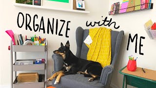 Organize with Me - I needed this! | Studio Vlog