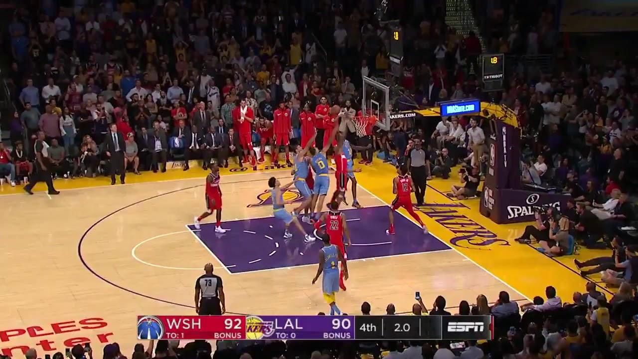 Brandon Ingram ties the game! - Los Angeles Lakers vs ...