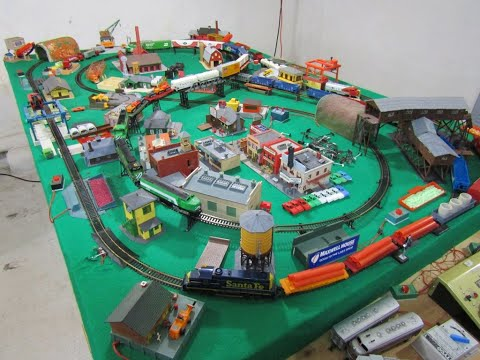 HO-Scale RETRO TYCO Layout Tour – 5' x 8' TYCO Train Collector's Dream