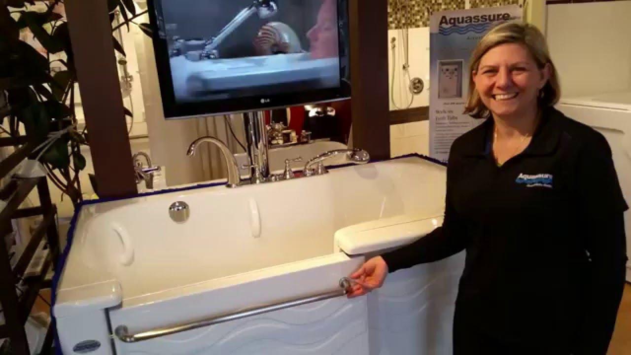 Aquassure ADL Slide In Bathtub   Door Demonstration   YouTube