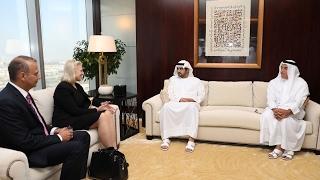 """مكتوم بن محمد يستقبل رئيس مجلس إدارة شركة """"آي بي إم"""" العالمية"""