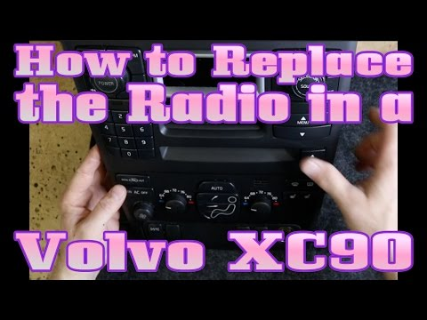 How to replace the radio in the Volvo XC90 Xc Wiring Harness Stereo on