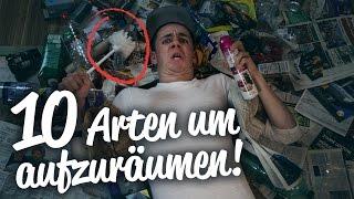 10 ARTEN um AUFZURÄUMEN ! || Flowest