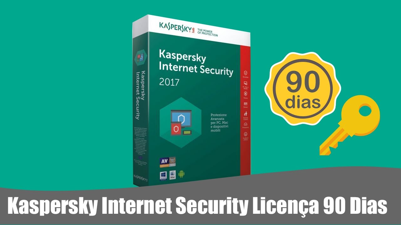 Kaspersky Internet Security 2017 Official License 90 Days + Reset Trial