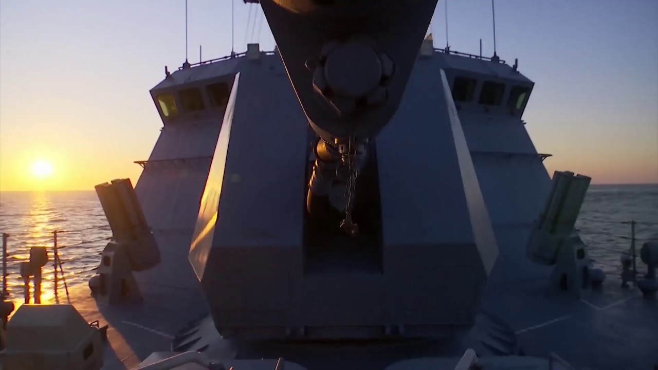 Артиллерийские стрельбы экипажа МРК «Мытищи» Балтийского флота