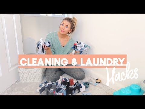 SIMPLE CLEANING & LAUNDRY HACKS & TIPS | KATE MURNANE ad