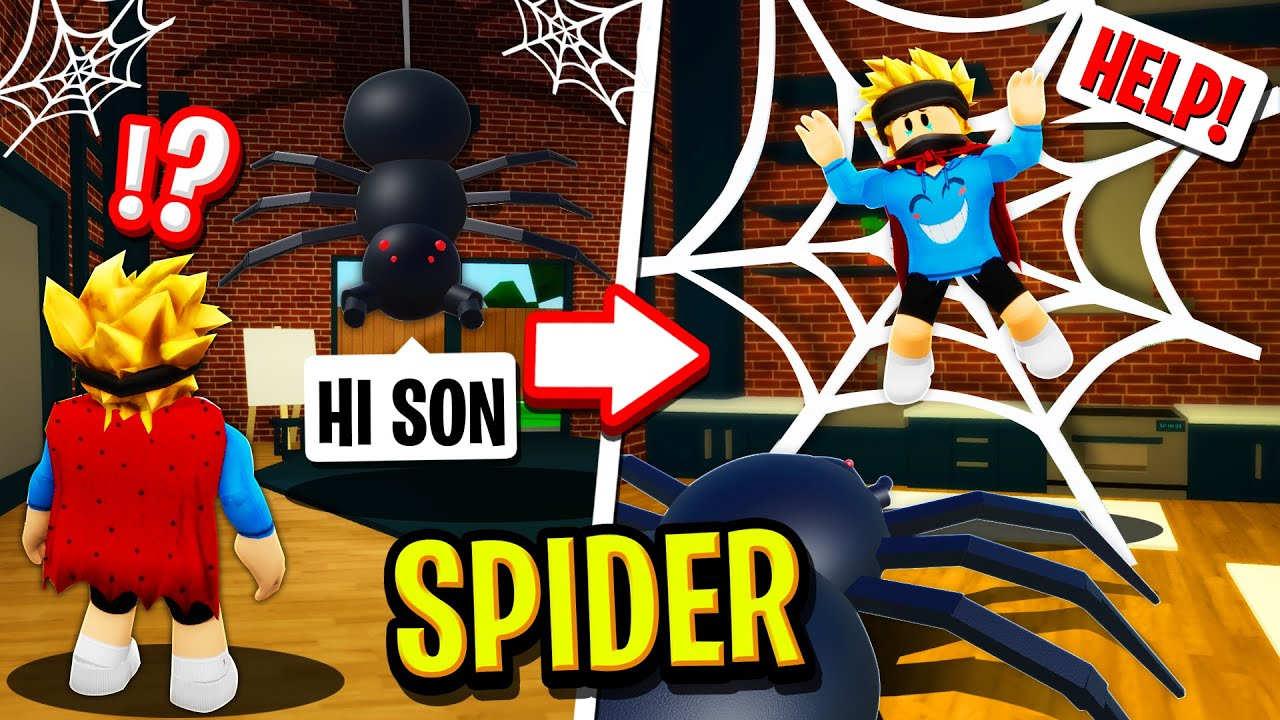 I Got ADOPTED by a SPIDER FAMILY in Roblox BROOKHAVEN RP!! (Funny)
