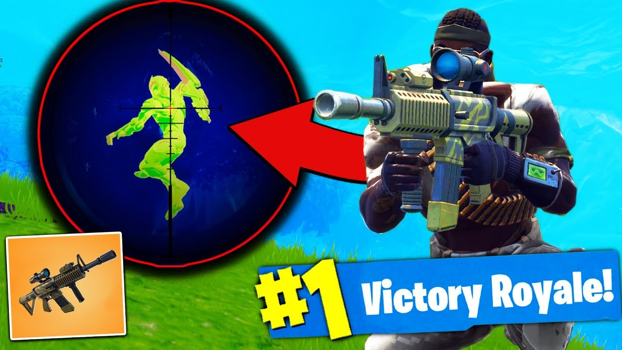 *NEW* THERMAL SCOPED AR Gameplay - Fortnite Battle Royale