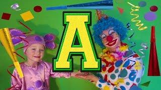 Буква А Учим АЛФАВИТ 0 Тим Лунтик веселый клоун и Жужа знакомят самых маленьких с алфавитом