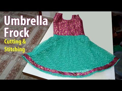 Umbrella Frock Cutting and Stitching | Baby Frock Cutting and Stitching Kids circle skirt