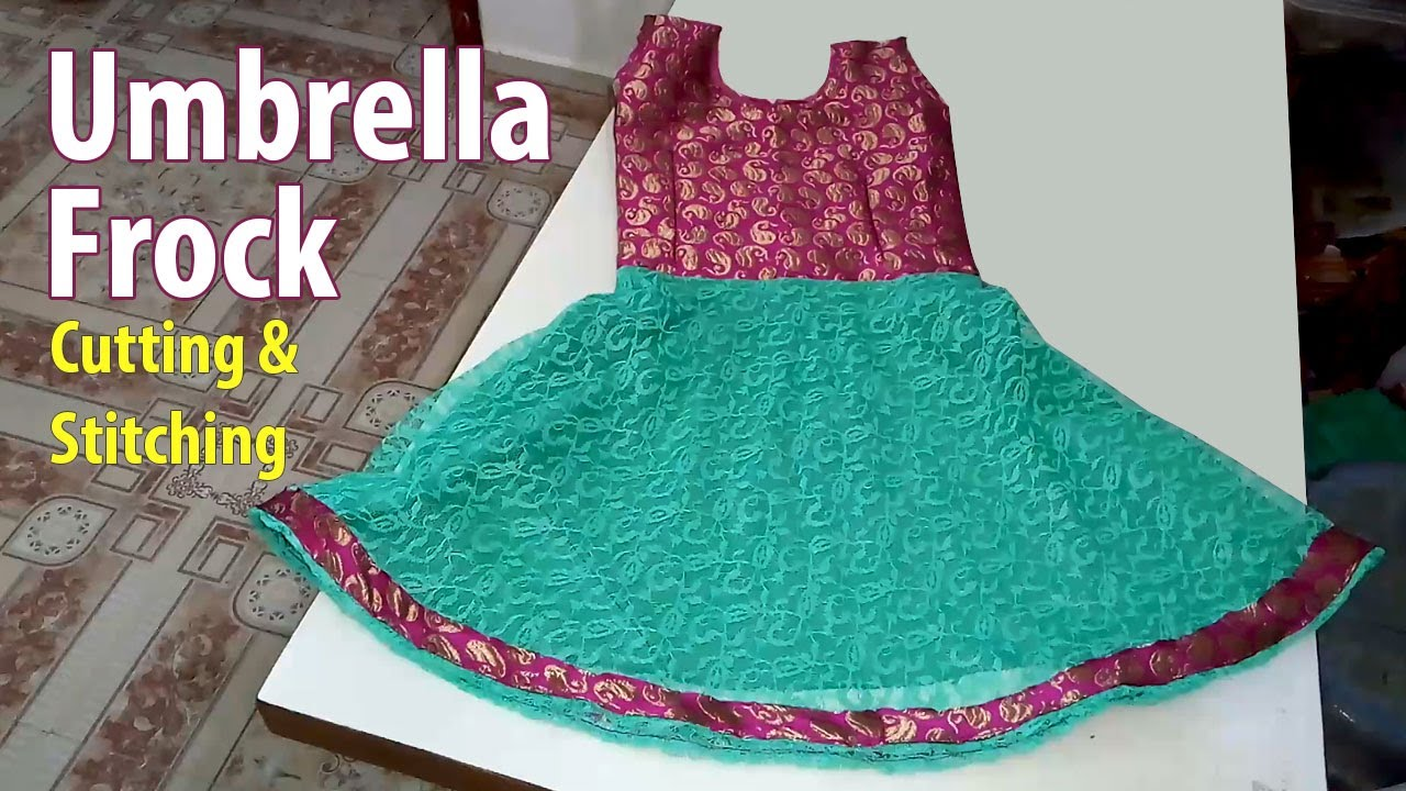 b77b84e09 Umbrella Frock Cutting and Stitching