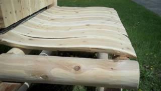 Contoured Comfort Cedar Log Garden Bench - Log Bench At Jhe's