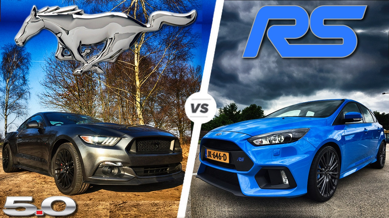 Ford focus rs vs mustang gt acceleration top speed pov autobahn by autotopnl