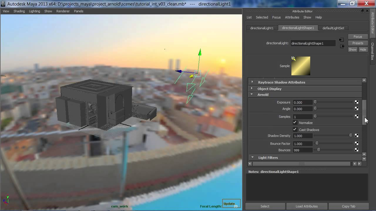Arnold maya rendering tutorial basic interior sunlight for Rendering 3d online gratis