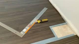 trafficMASTER Allure vinyl plank flooring installation.