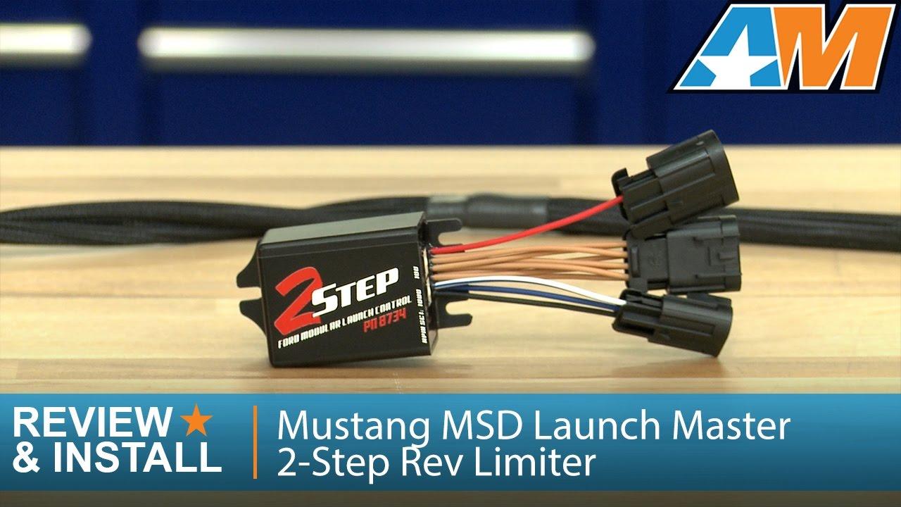 medium resolution of 1999 2010 mustang msd launch master 2 step rev limiter v8 review