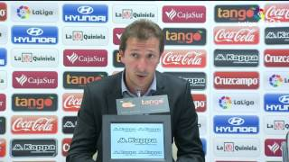 Rueda de prensa de Ramis tras el Córdoba CF vs UD Almería (1-0)