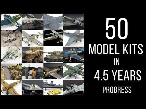50 model kits, my progress in scale modelling