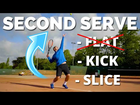 How To Hit The Perfect 2nd Serve in Tennis - Slice vs Flat vs Kick Tennis Serve Lesson