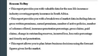 Market Report on Property Insurance in South Africa to 2018   Ma