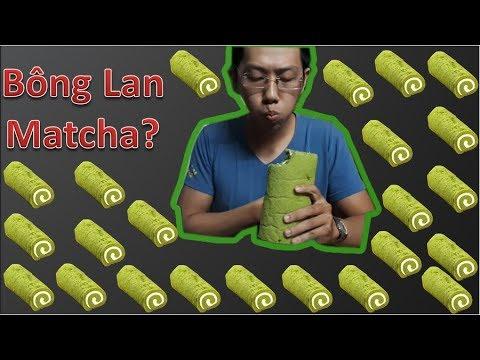 Thử Thách Ăn Bánh Trà Xanh Matcha, Bánh Bông Lan Trà Xanh.