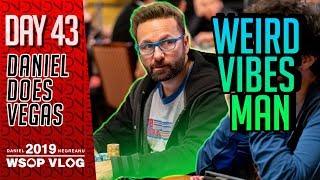 WEIRD VIBES Man. PLO Day 2 - 2019 WSOP VLOG DAY 43