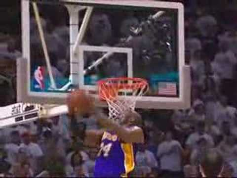 Kobe Bryant Throws Down the Double-Clutch Reverse Jam