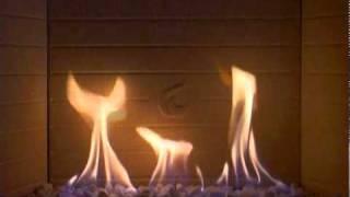 Piazzetta fuoco a gas sui ciottoli