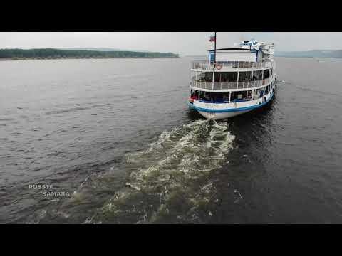 """Теплоход """"Родная Русь""""/ Река Волга / Самара / Volga River / Russia"""