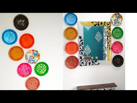 Wall Decor Ideas With Thermocol Plates Diy Wall Hanging