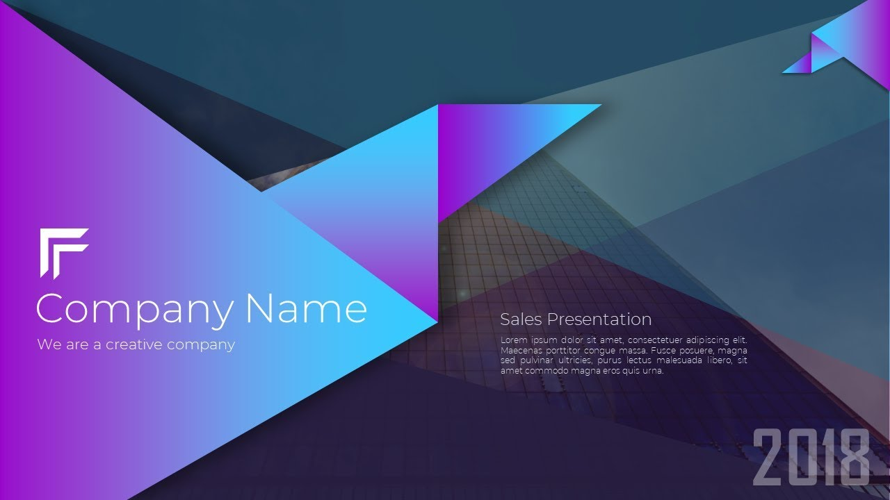 How To Create An Awesome Business Cover Slide Presentation In Microsoft Office 365 PowerPoint