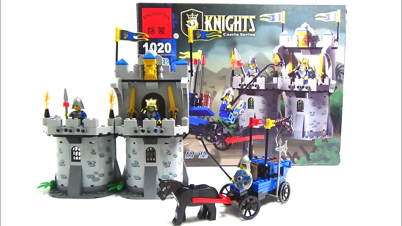 Toy Castle Show : Enlighten 레고 knights castle series no 실버벨toy youtube