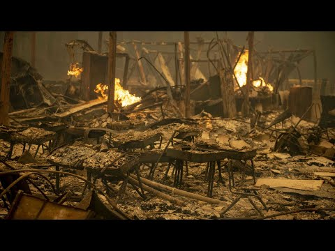 See The Devastation At Berry Creek Elementary School From The Bear Fire