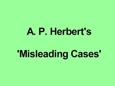 AP Herbert's 'Misleading Cases' - Series 1 Episode 1 - The Negotiable Cow
