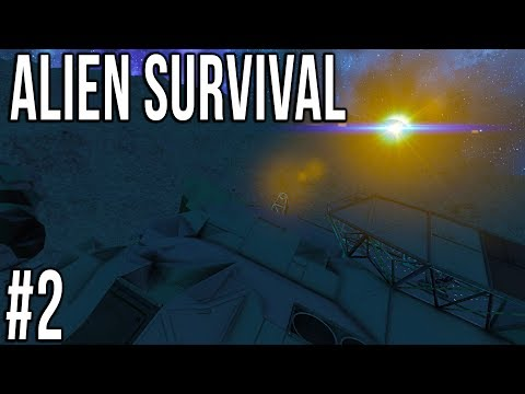 Space Engineers - ALIEN SURVIVAL - Ep 2 - CRASHED SHIP!