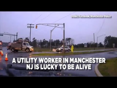 Utility Worker Narrowly Escapes Death By Downed Wire