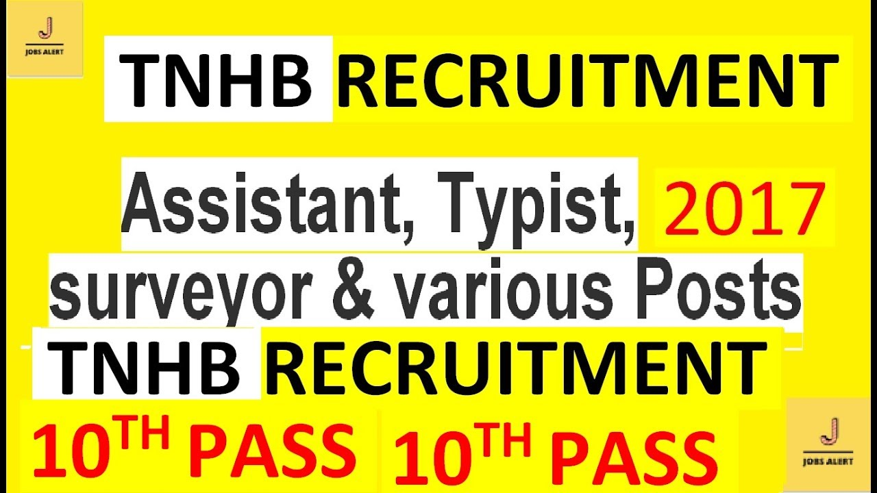 tamil nadu housing board (tnhb) recruitment 2017-find me a job