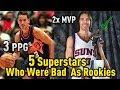 5 NBA Superstars That Had BAD ROOKIE Seasons!