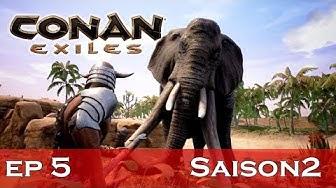 Conan Exiles- EP 5- saison 2-  éléphants et rhino !!