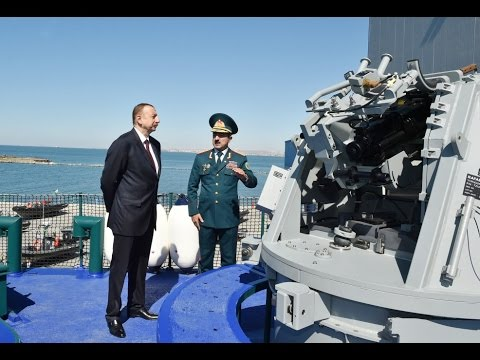 President Ilham Aliyev reviewed new border guard ship of Coast Guard of State Border Service