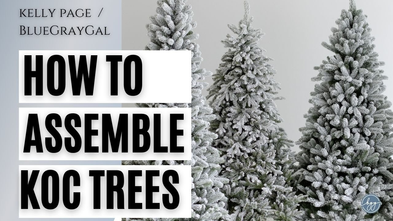 How to Put Together a King of Christmas Tree - YouTube