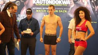 QUIGG RETURNS! - SCOTT QUIGG v MARIO BRIONES - OFFICIAL WEIGH IN FROM BOSTON / QUIGG-BRIONES