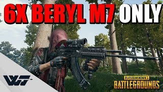 6X BERYL M762 _ONLY_ - Crazy scoped spraying (not cinematic) - PUBG