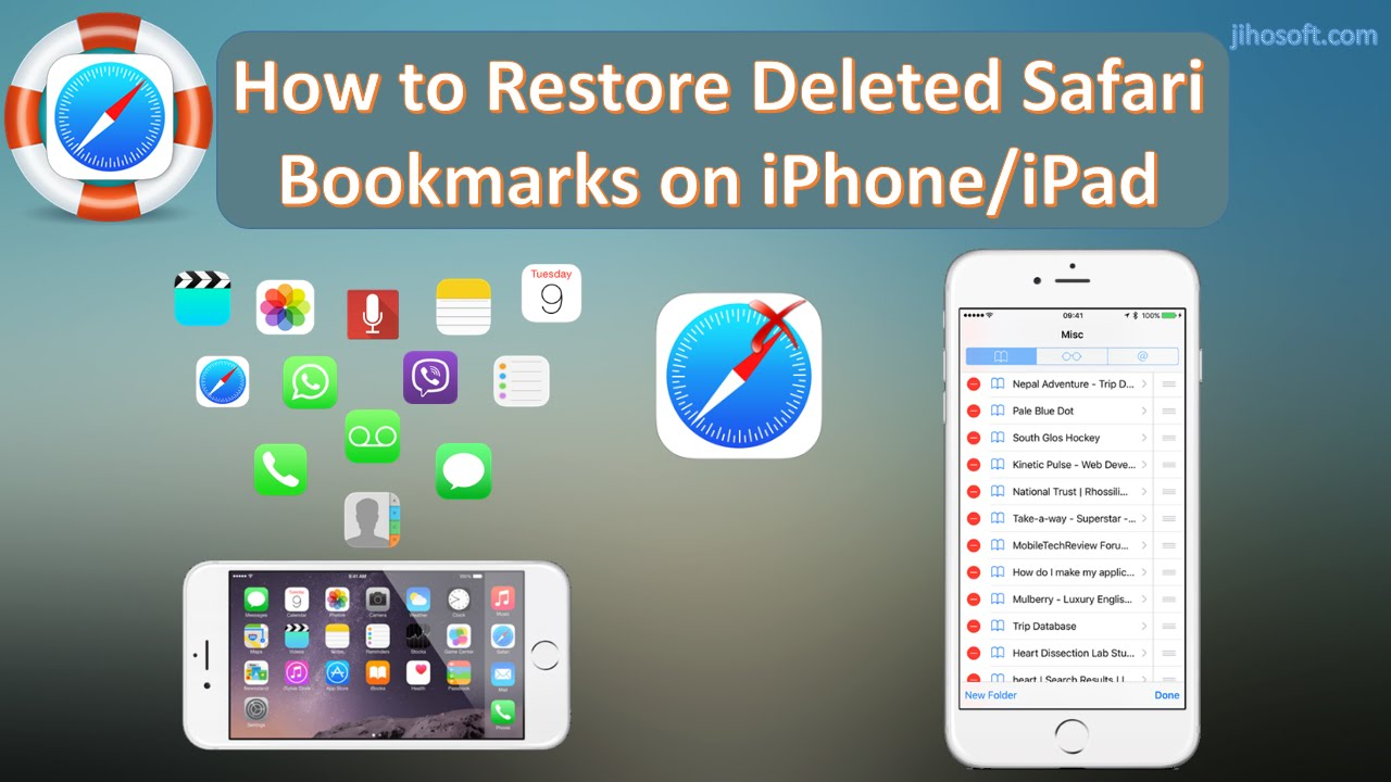How can I restore my bookmarks