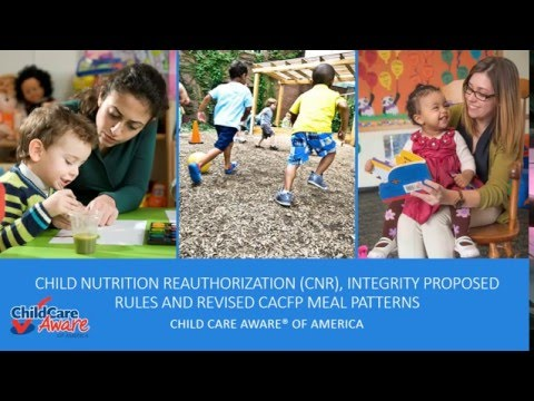 Child and Adult Food Program Webinar