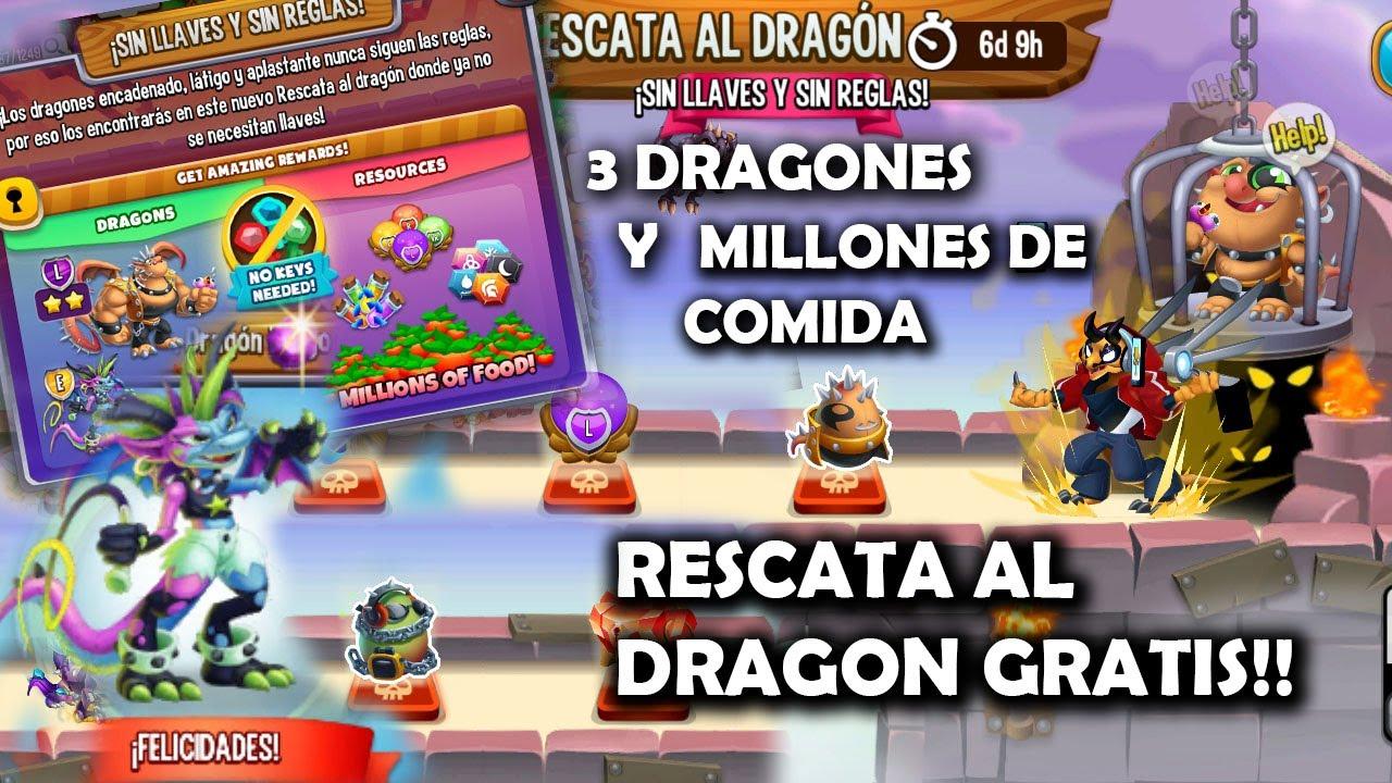 RESCATA AL DRAGON GRATIS | MAS DE 40 MILLONES DE COMIDA & CONSIGUE ...